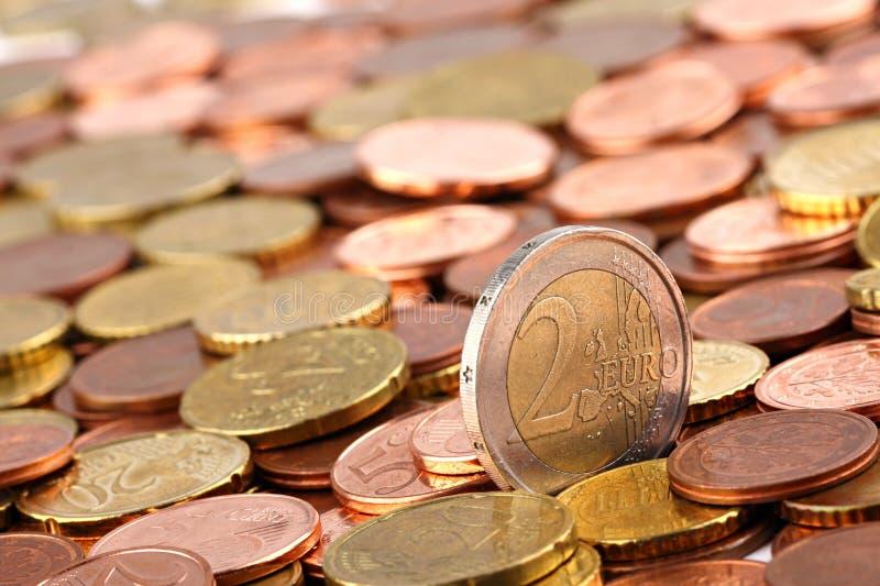 EURO muntstukken 2 royalty-vrije stock fotografie