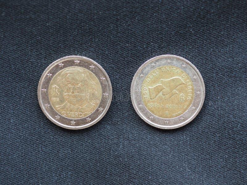 Euro muntstukken, Europese Unie stock fotografie