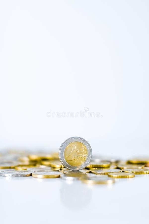 Euro muntstukken, Europese Unie munt stock foto