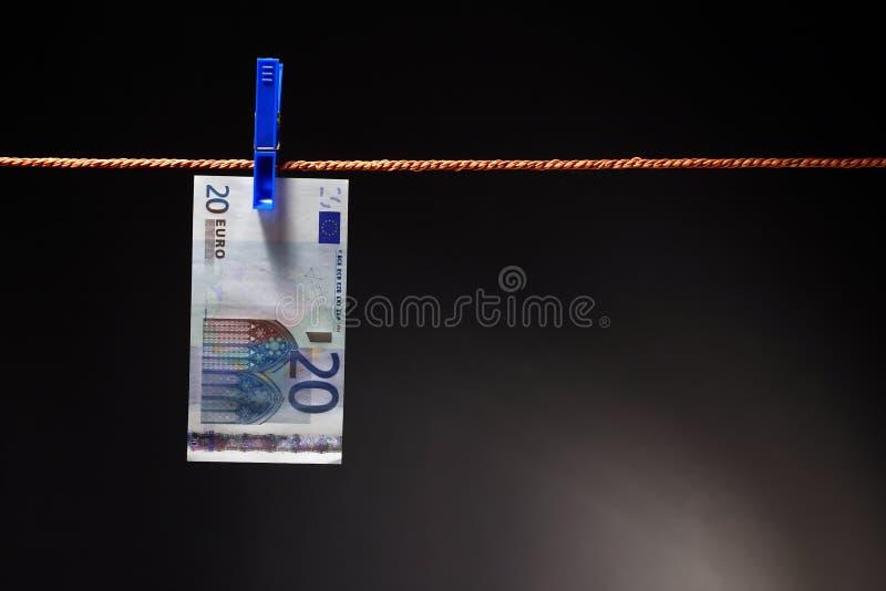 Euro na corda imagens de stock royalty free