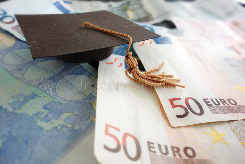 Euro nakrętka i notatki zdjęcie stock