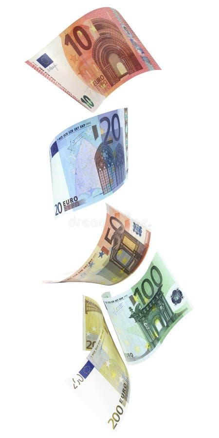 Euro euro nella caduta verticale illustrazione vettoriale