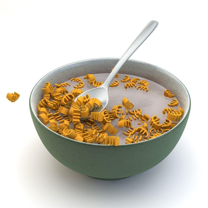 Euro śniadanie Fotografia Stock