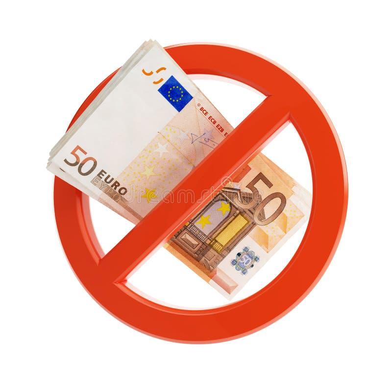 Euro ninguna crisis financiera stock de ilustración