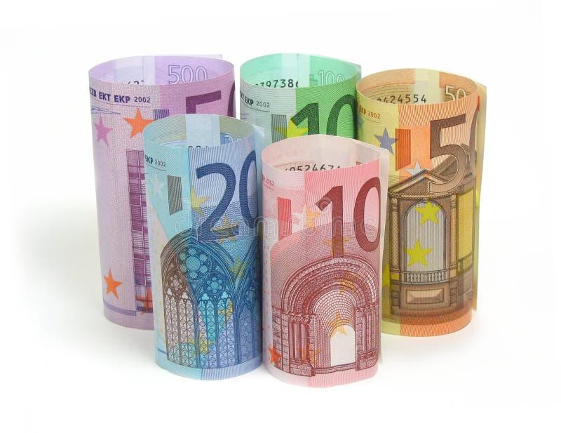 Euro nota's stock foto's