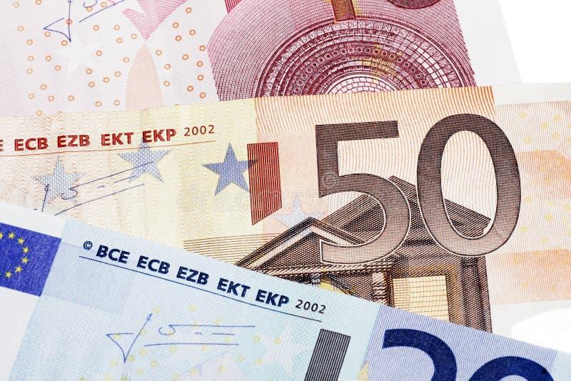 Euro Nota vijftig royalty-vrije stock afbeeldingen