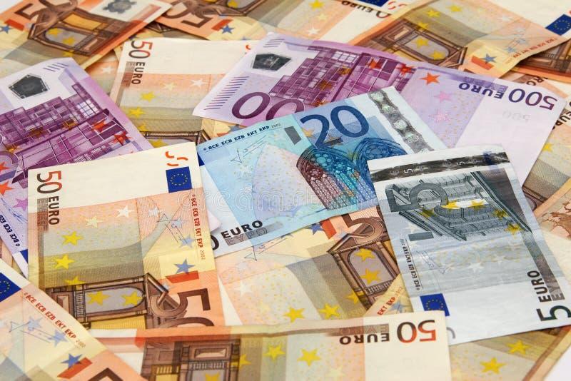 Euro- notas de banco fotografia de stock