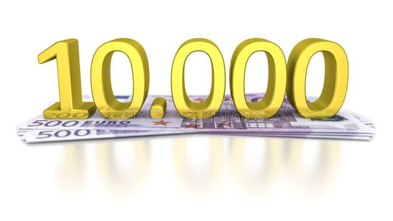500 euro- notas de banco ilustração royalty free