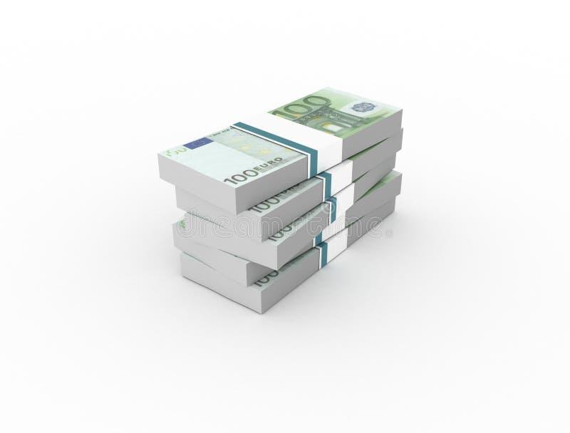 100 euro- notas de banco ilustração do vetor