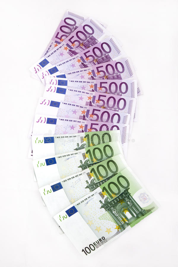 Euro note fotografia stock
