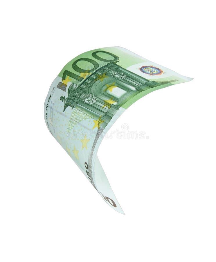 Euro note en baisse d'argent photo stock