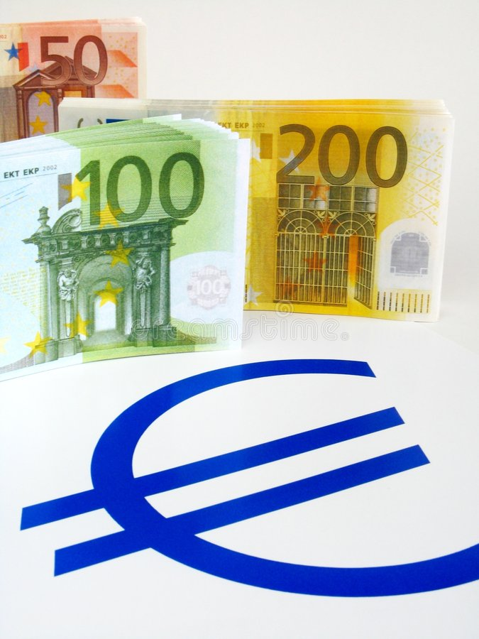 Euro Notes D Argent Photographie stock