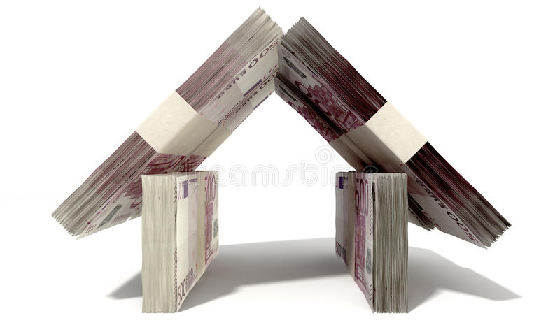 Download Euro Notes House Front Royalty Free Stock Photos - Image: 31281648