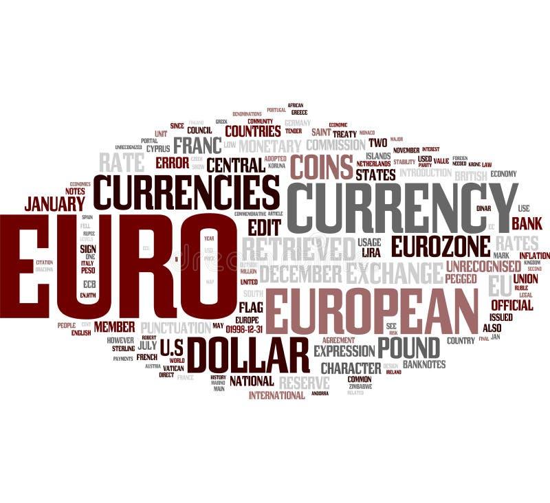 Euro nuage de mot illustration libre de droits
