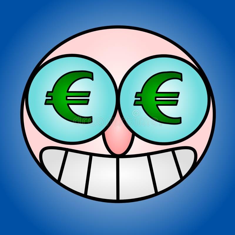 Euro- olhos ilustração do vetor