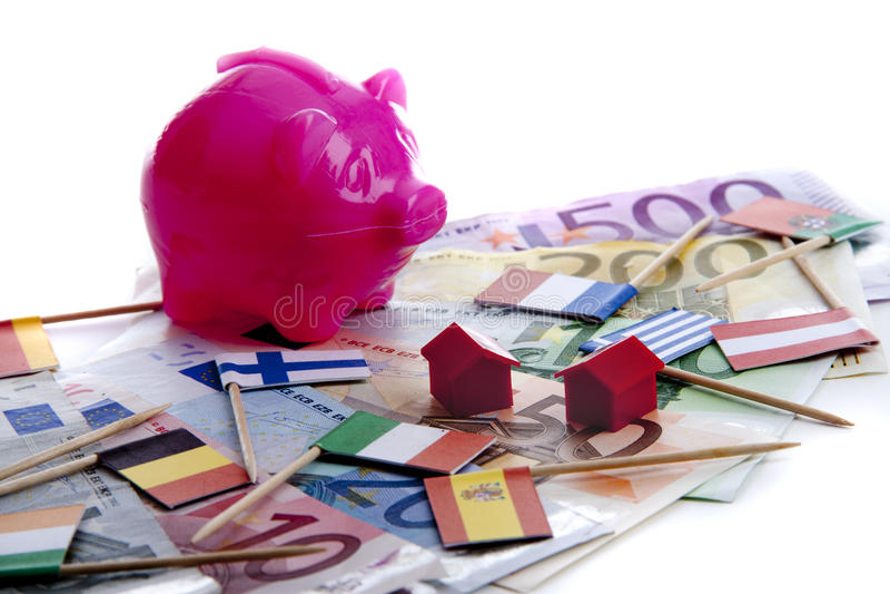 Euro onder druk royalty-vrije stock foto's