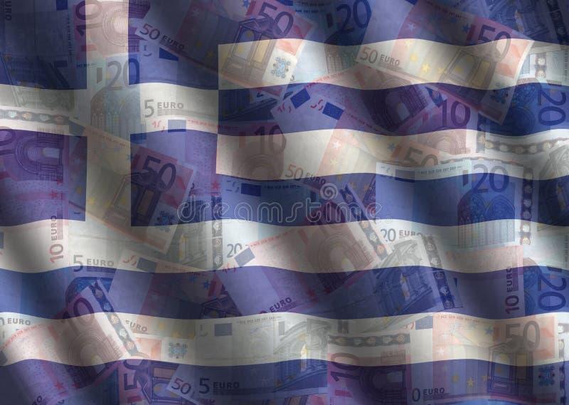 Euro ondulés et indicateur grec illustration libre de droits