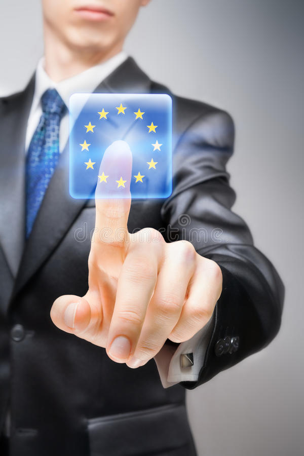 Euro-otimista fotografia de stock