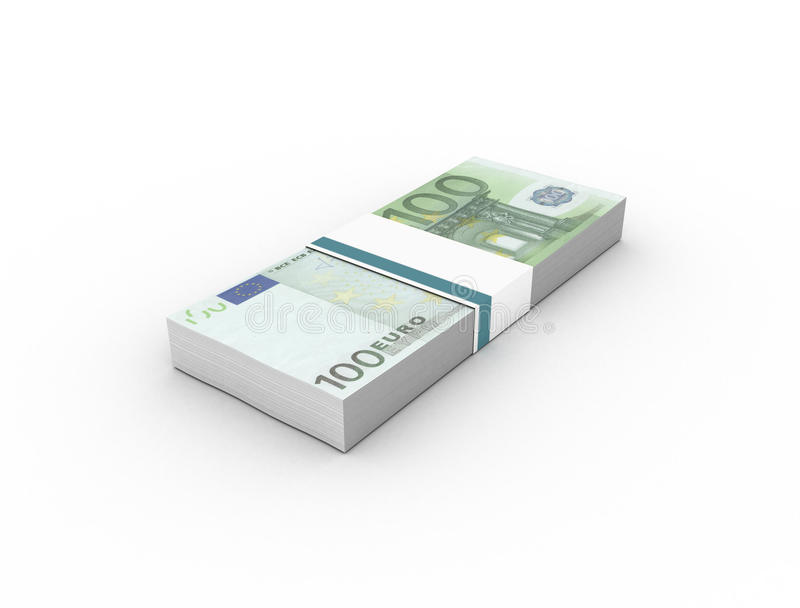 100 euro- pacotes das contas das cédulas ilustração royalty free