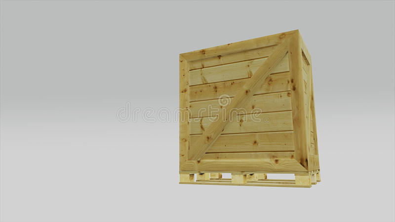 Euro pallet with transport box for logistics applications 3d ill vector illustration