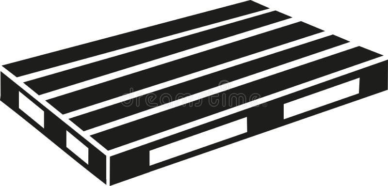 Euro pallet vector stock illustration