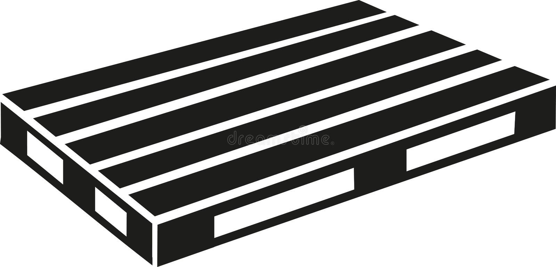 Euro palletvector stock illustratie