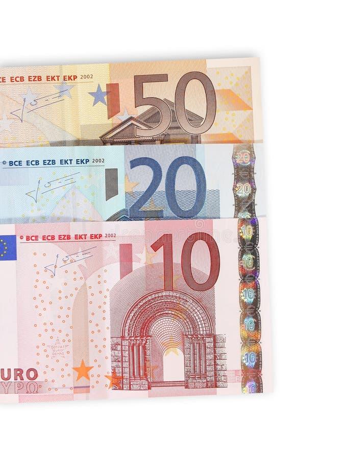 Euro particolare dei soldi immagini stock