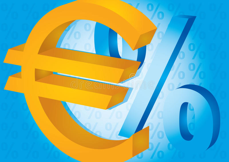 Euro And Percent Sign Royalty Free Stock Photo