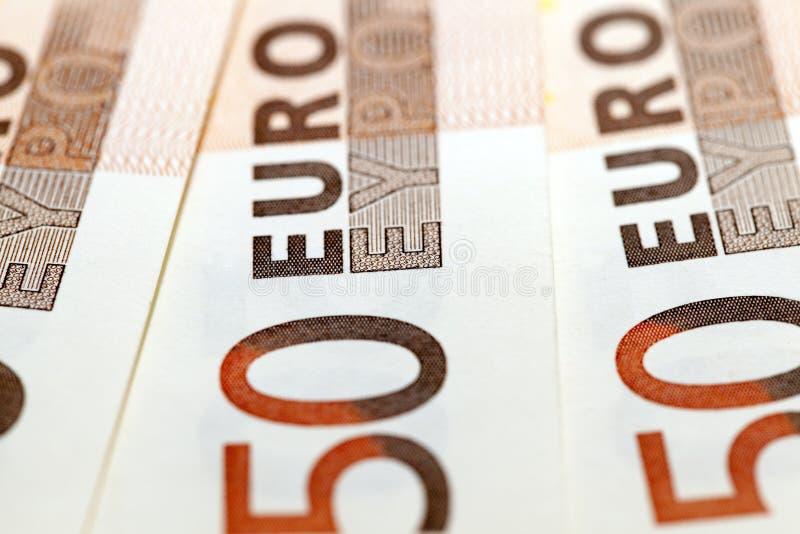 Euro, photographed close up stock image