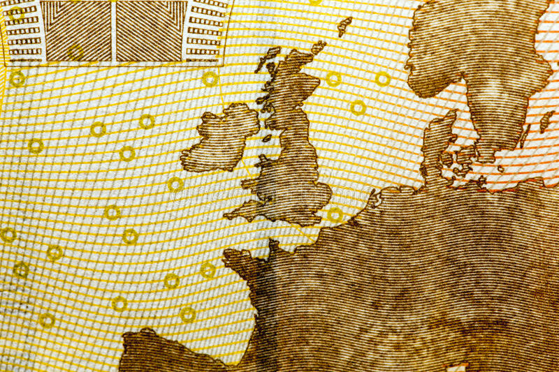 Euro, photographed close up stock images