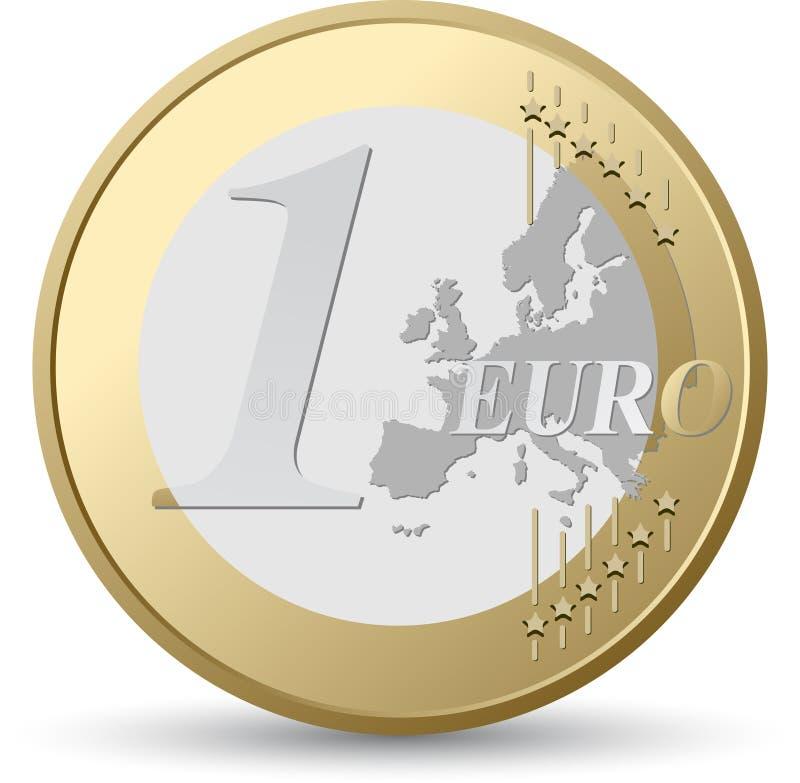 Euro pièce de monnaie illustration libre de droits