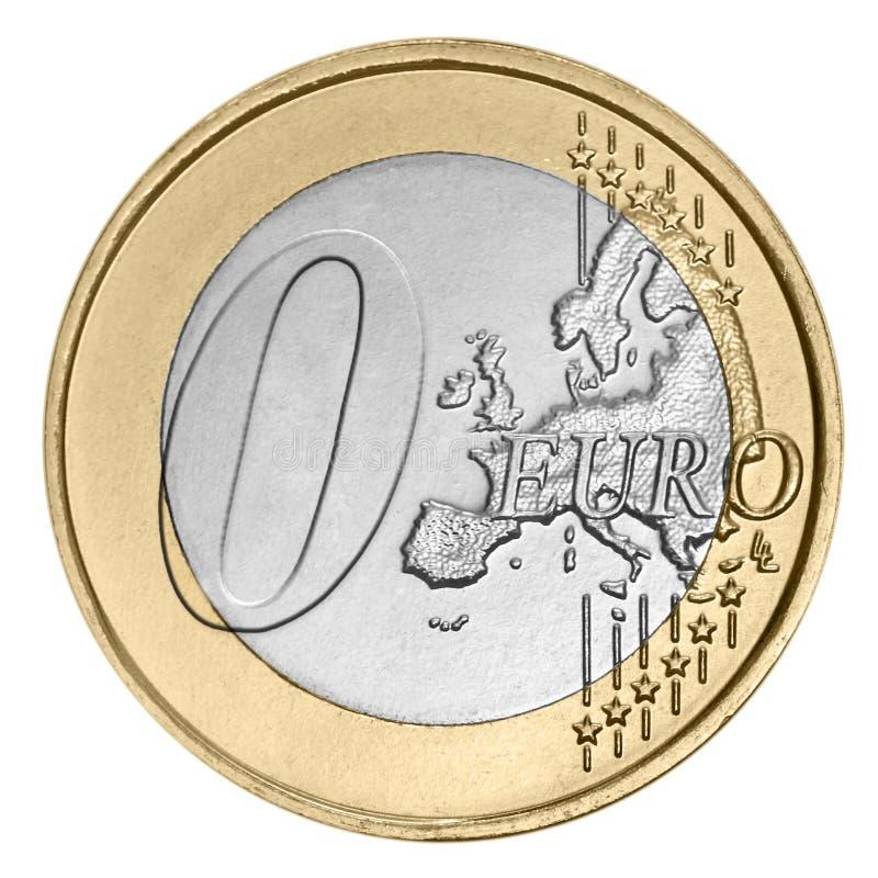 Euro pièce de monnaie zéro photos stock