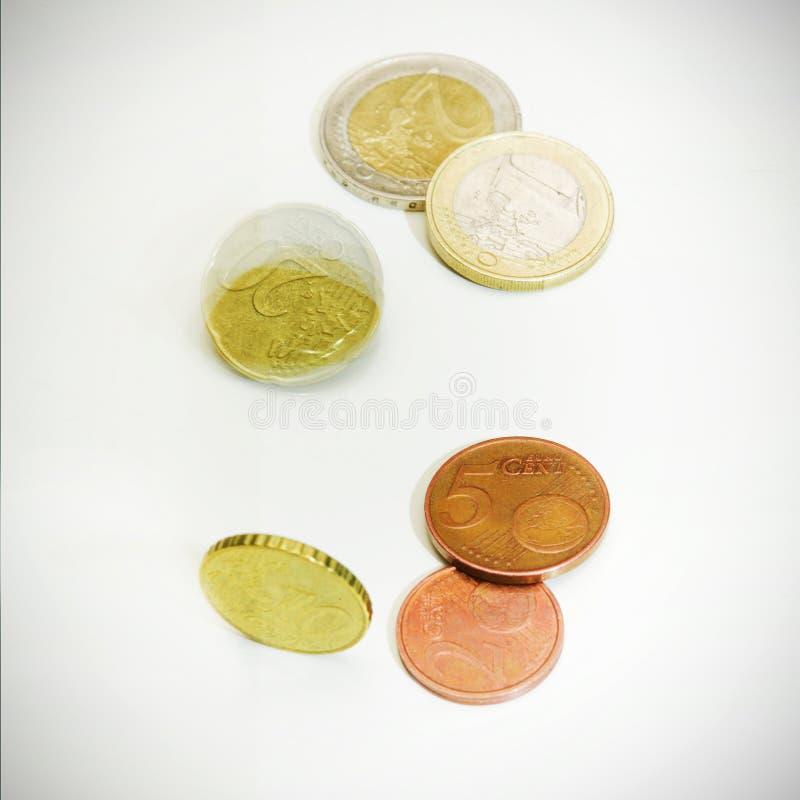 Euro pièces de monnaie photos stock