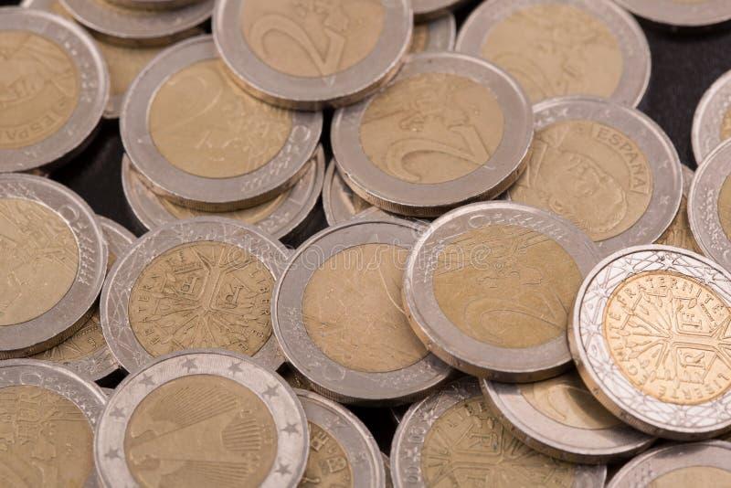 Euro pi?ces de monnaie photo libre de droits