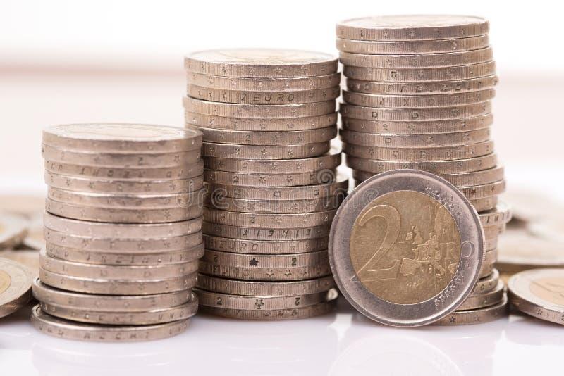 Euro pi?ces de monnaie images libres de droits