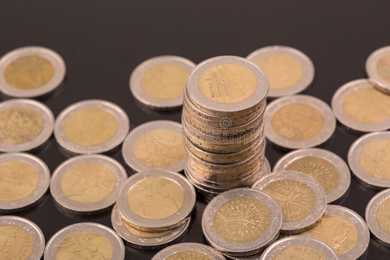Euro pi?ces de monnaie images stock