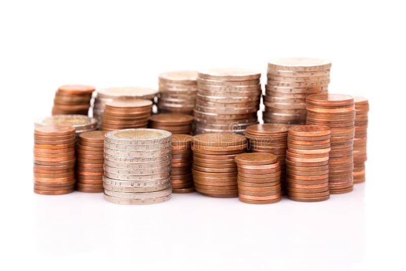 Euro pi?ces de monnaie photo stock