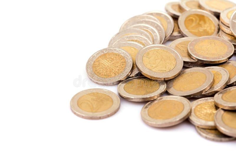 Euro pi?ces de monnaie photos libres de droits