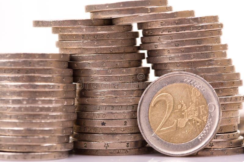 Euro pi?ces de monnaie image stock