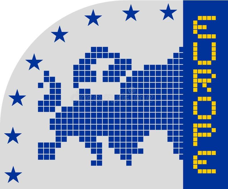 Euro pictogram vector illustratie