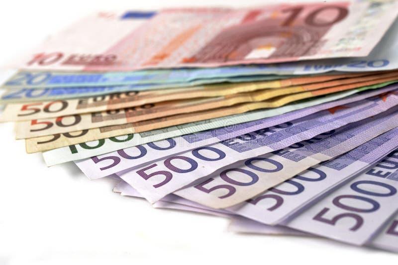 Euro pieniędzy banknoty obrazy royalty free