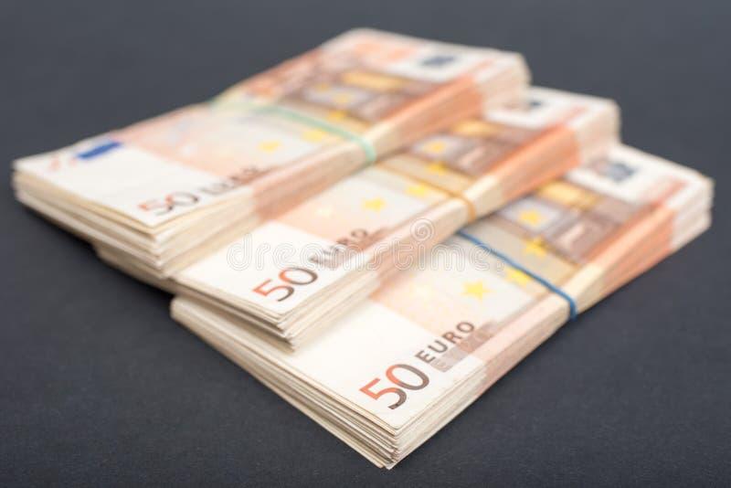 Euro pieniędzy pliki obrazy stock