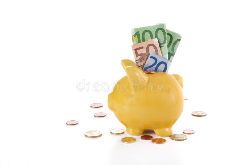 Download Euro piggybank stock photo. Image of economise, coinage - 8320138