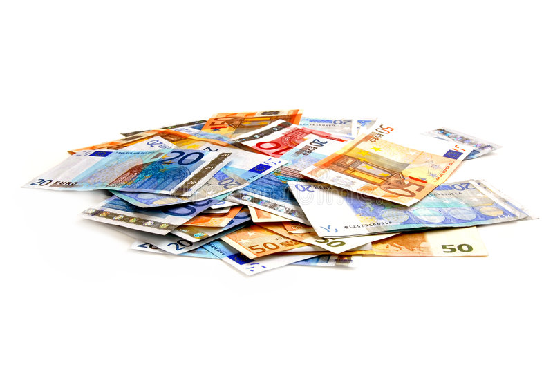 euro pile στοκ φωτογραφίες με δικαίωμα ελεύθερης χρήσης