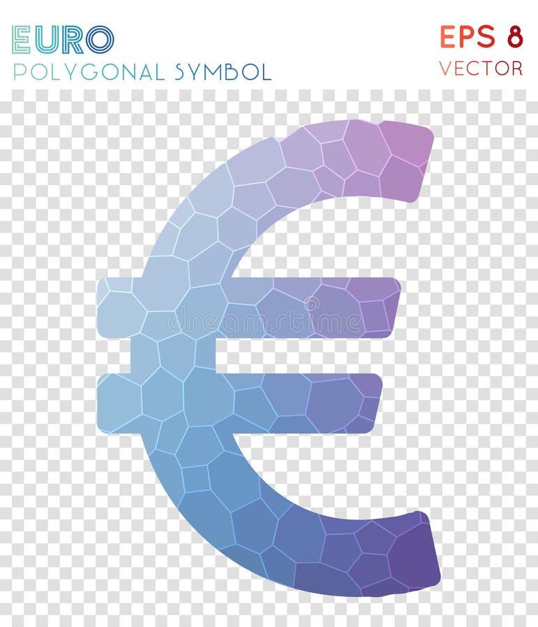 Euro poligonalny symbol ilustracja wektor