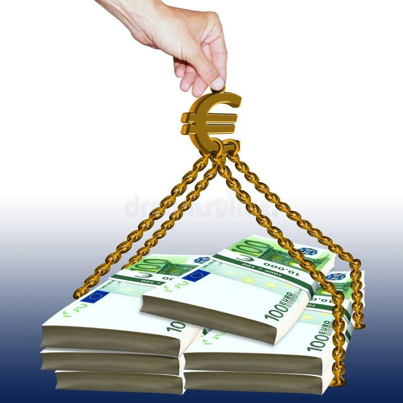 Euro pomoc zdjęcie stock
