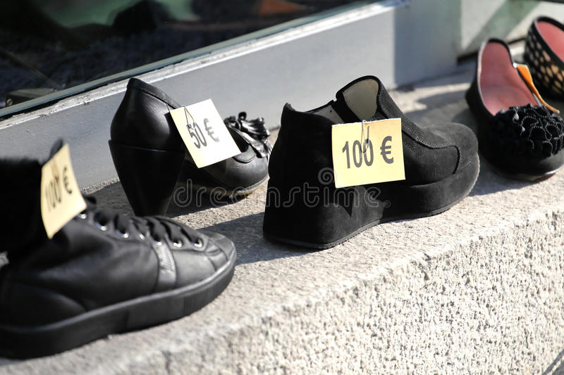 Download Euro price tags on shoes stock image. Image of stylish - 18529417