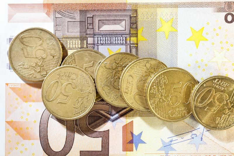 euro, primo piano fotografie stock libere da diritti
