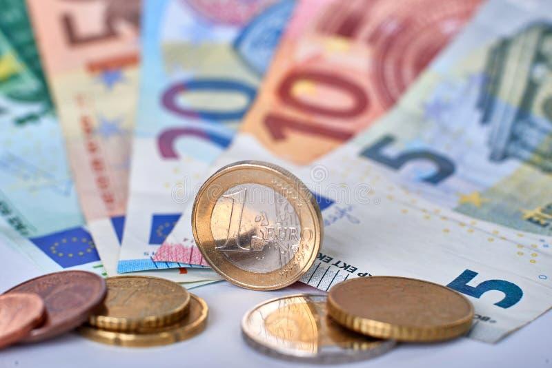 Euro primo piano di valuta fotografia stock