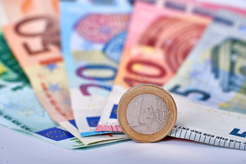 Euro primo piano di valuta immagini stock libere da diritti